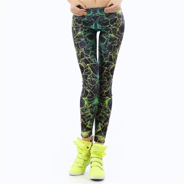 Black 3D Printed Women Fluoro Leggings Sportswear-Bohemian Brunch