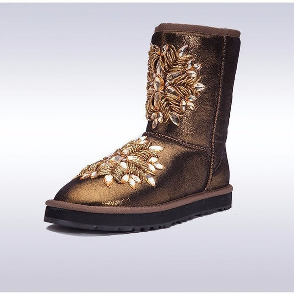 BLING Sheepskin Uggboots-Bohemian Brunch