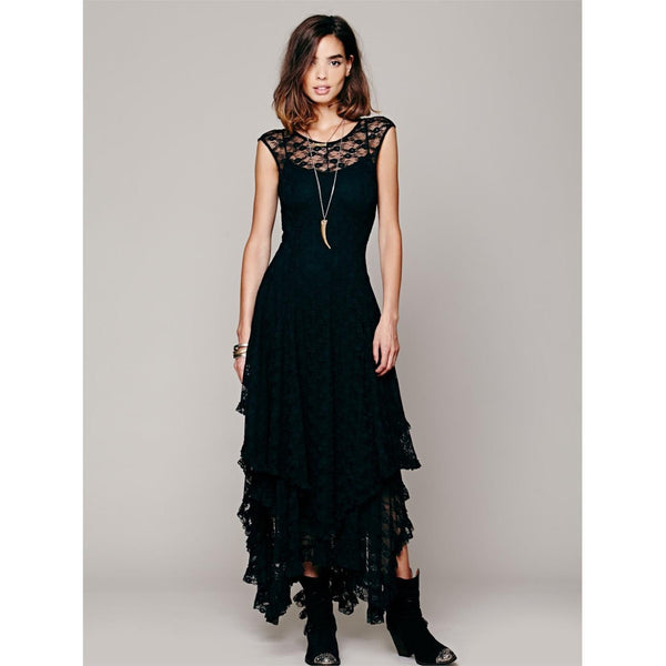 Boho Dance Sheer lace Dress-Bohemian Brunch