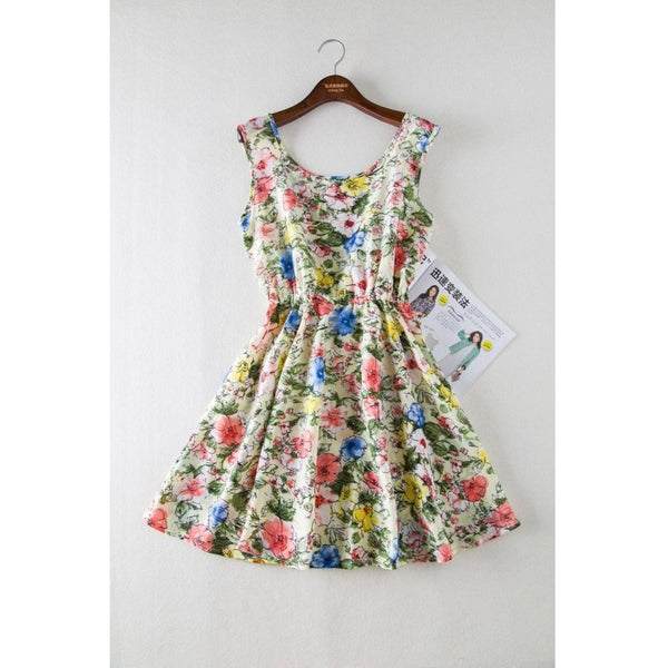 Floral Party Summer Beach Vintage Dress-Bohemian Brunch