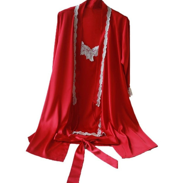 Red Ruby Robe Dressing Gown Set Travel Gift-Bohemian Brunch