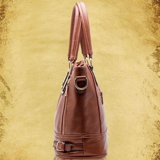 Retro Vintage Travel Tote Pu Leather Bag-Bohemian Brunch