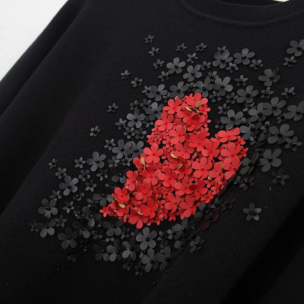 Star Celebrity Heart Flowers Sweet Sweater Winter Jumper-Bohemian Brunch