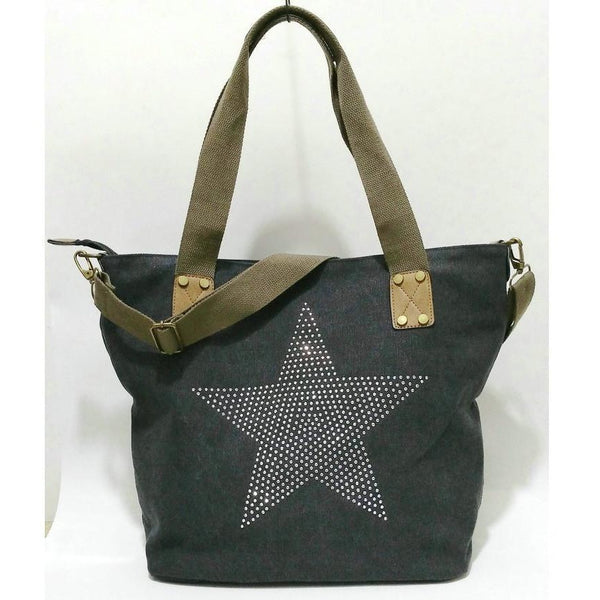Star Studded Canvas Travel Handbag-Bohemian Brunch