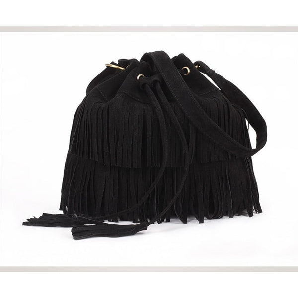 Summer Fringe Boho Bucket Bag-Bohemian Brunch