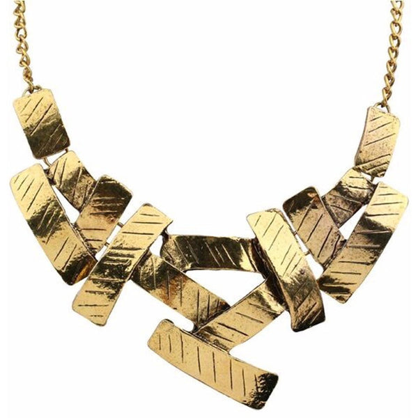 Vintage Metal Choker Statement Necklace-Bohemian Brunch