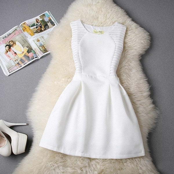 White Dress Party Evening Elegant Prom Dress-Bohemian Brunch