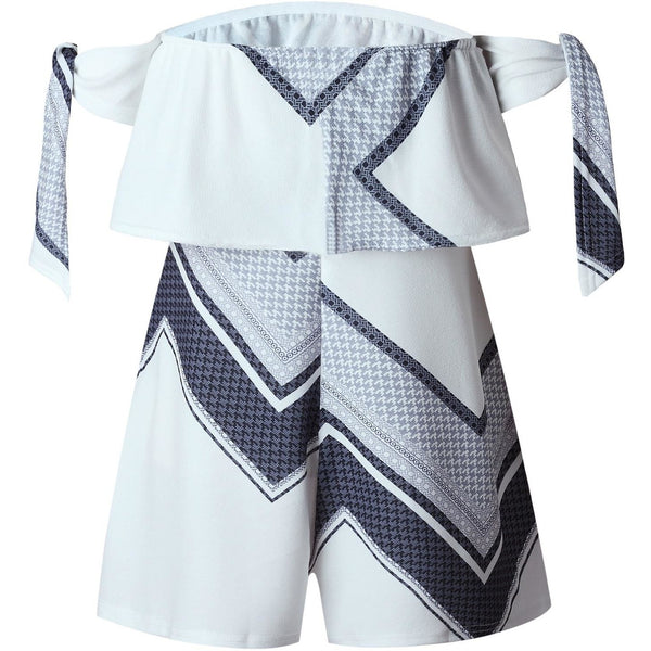 White Printed Strapless Summer Fun Rompers $29.00 3 DAY SALE-Bohemian Brunch