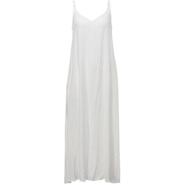 White Sundress Beach Boho Strapless Maxi-Bohemian Brunch