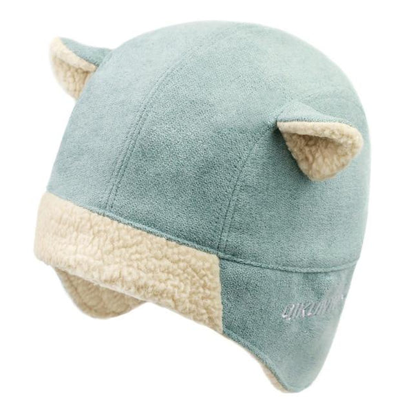 Women Faux Cashmere Bomber Hat Cat Ear Trapper Winter Fleece Cap-Bohemian Brunch