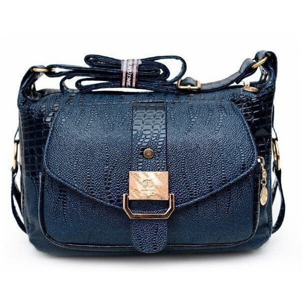 Women Hobo Messenger Bag PU Leather Black Roberta-Bohemian Brunch