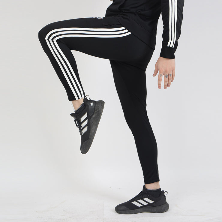 Three Stripes Black Interlock Bottoms