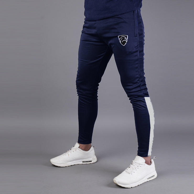 Quick Dry Navy Hawk Series Bottoms With White Bottom Panel