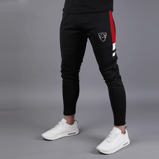 Black Hawk Series With Red Panel And White Stripes - TeeFit Fashion