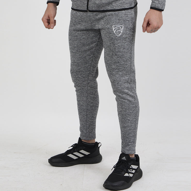 Texture Grey Poly Fleece Premium Bottoms