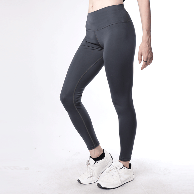 Charcoal High Waisted Women Premium Leggings - TeeFit Fashion