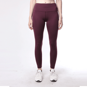 Maroon High Waisted Women Premium Leggings - TeeFit Fashion
