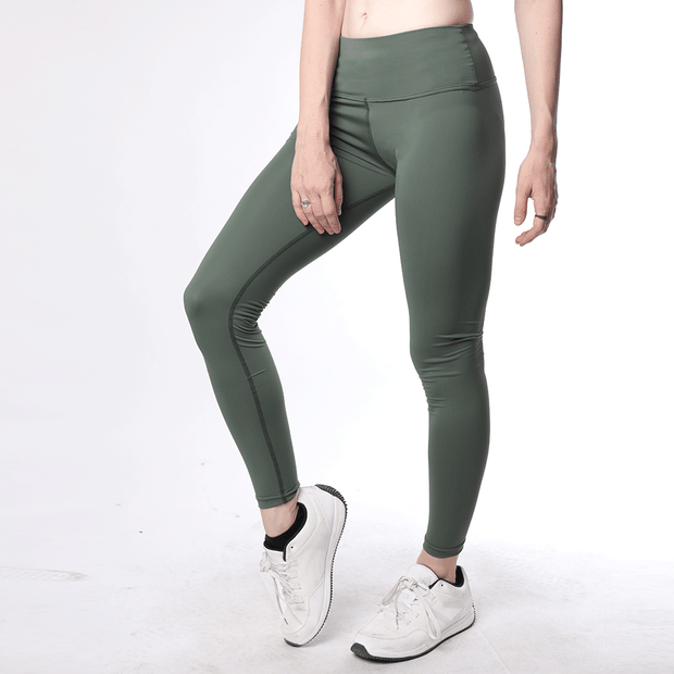Green High Waisted Women Premium Leggings