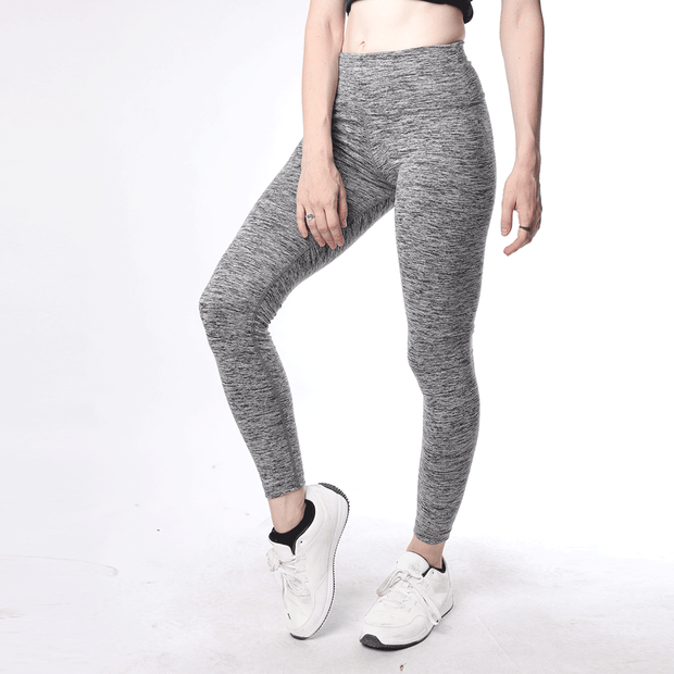 Grey Textured High Waisted Women Premium Leggings