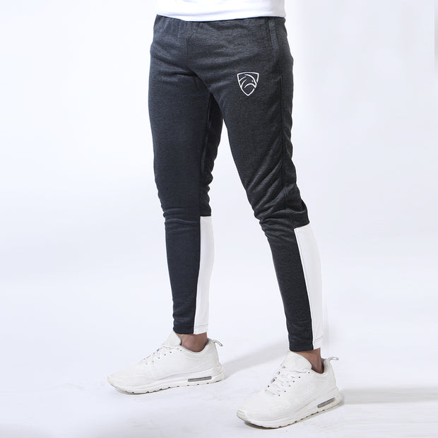 Quick Dry Textured Charcoal Bottoms With White Back Panels
