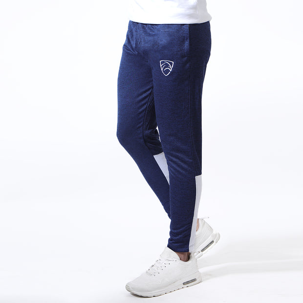 Quick Dry Textured Navy Bottoms With White Back Panels