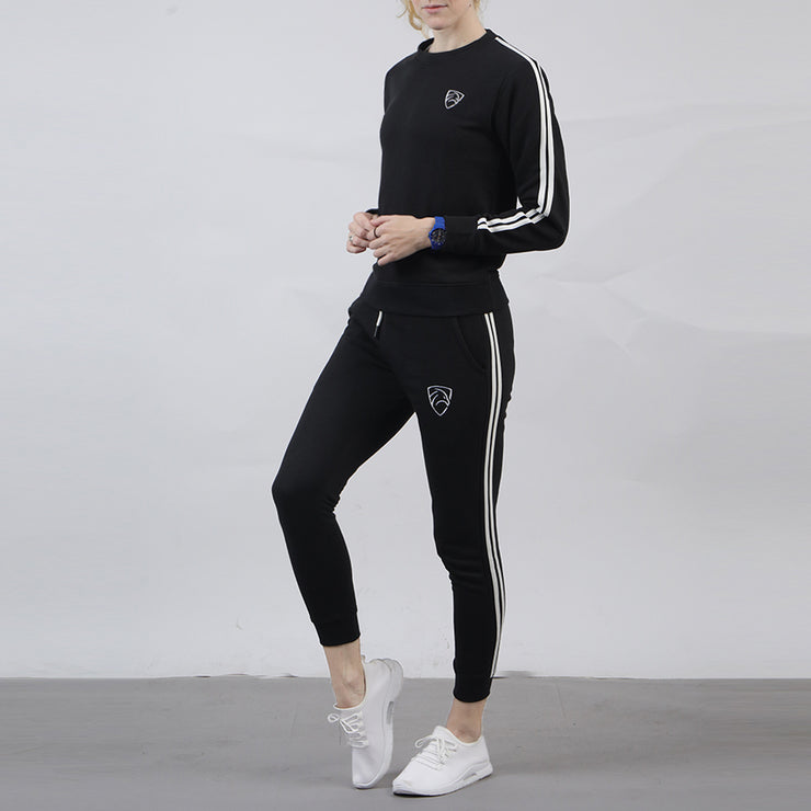 Black Women Tracksuit With Two Stripes
