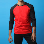 Red & Black Raglan Tee