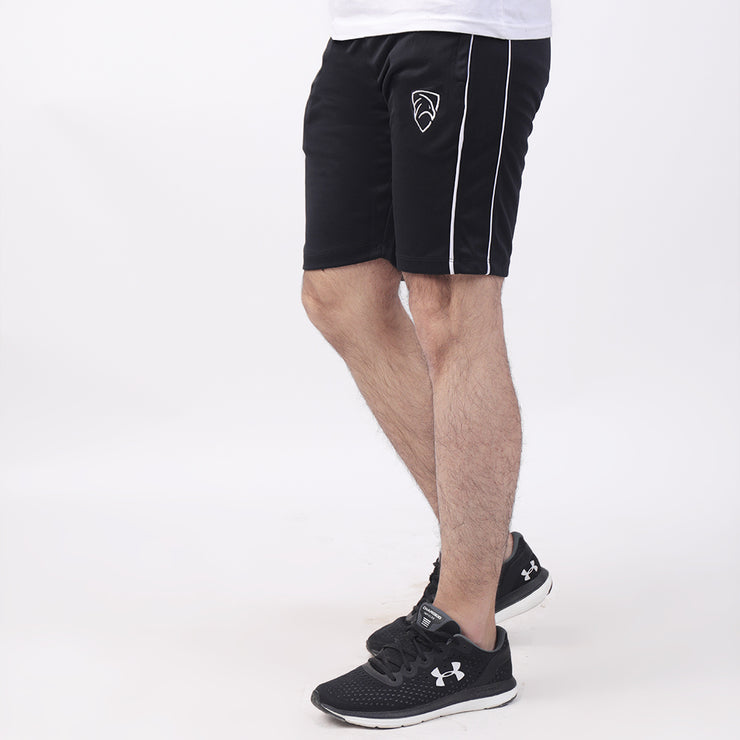 Double Piping Black Performance Shorts