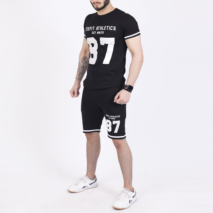 Teefit Athletics Number Tee And Shorts Summer Tracksuit