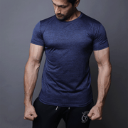 Quick Dry Navy Textured Tee - TeeFit Fashion