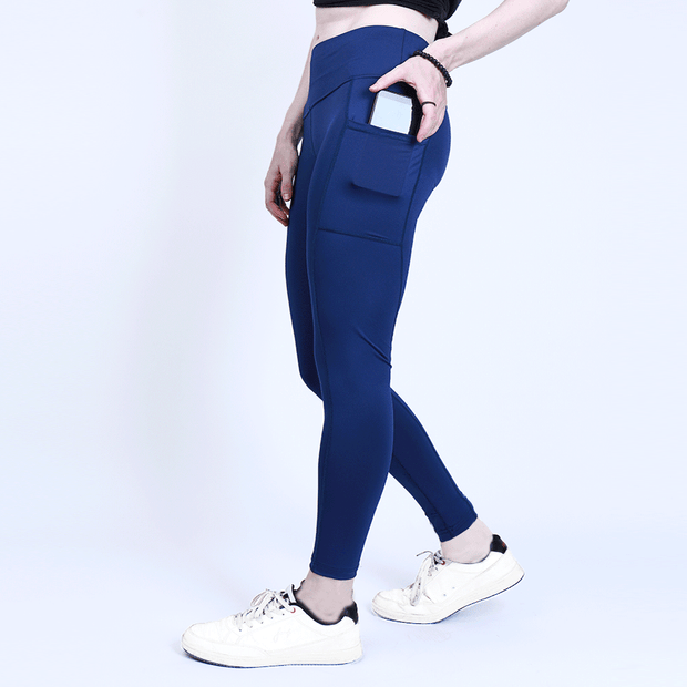 Navy Blue High Waisted Premium Pocket Leggings
