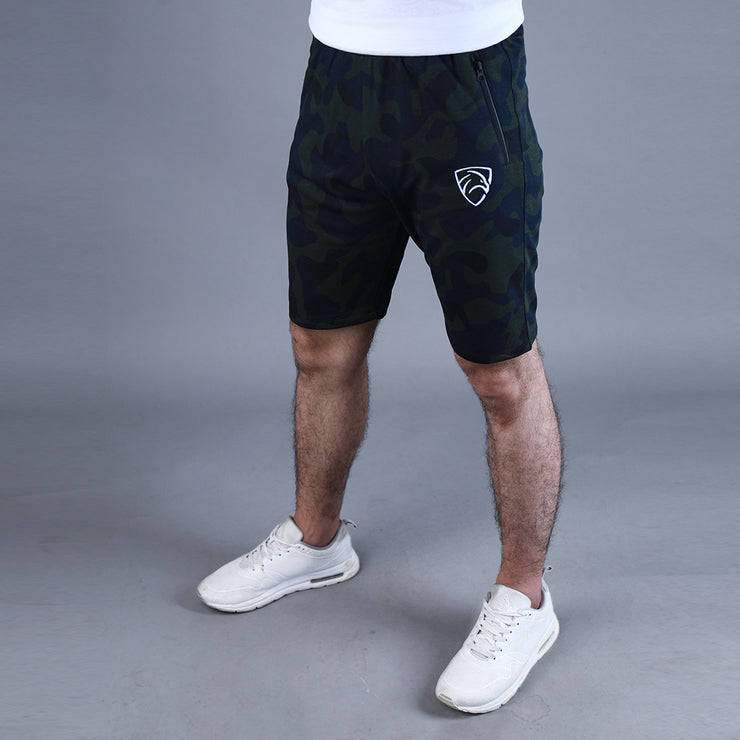 Tf-Green Camouflage Shorts