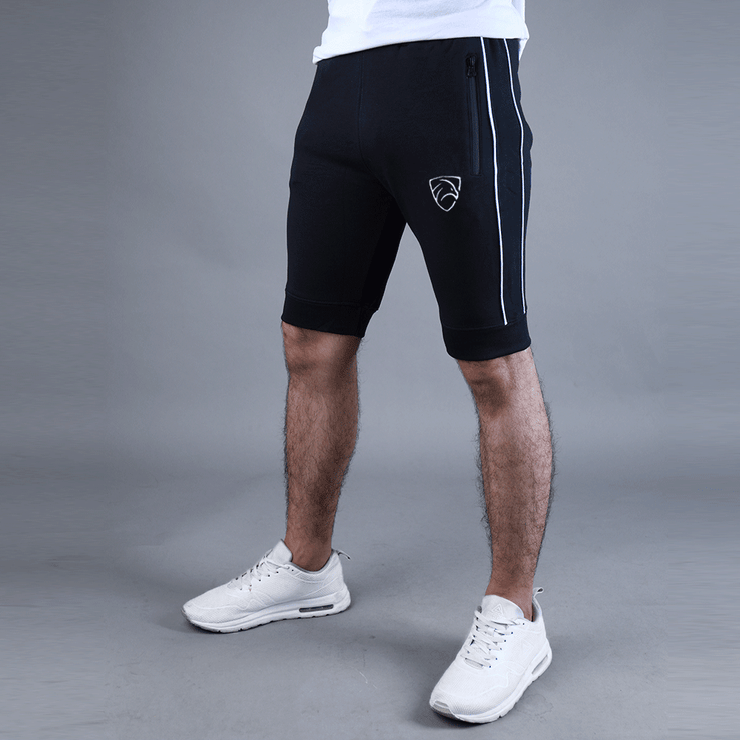 Tf-Black Piping Shorts With Waterbase Zips