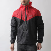 Red And Black Wind Crusher Zipper Hood