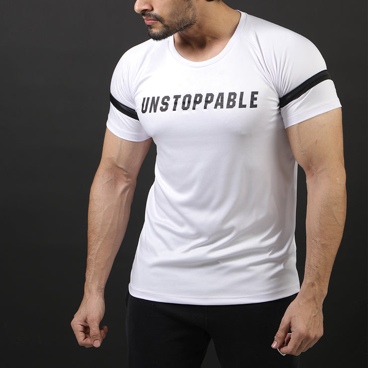 White Unstoppable Performance Tee