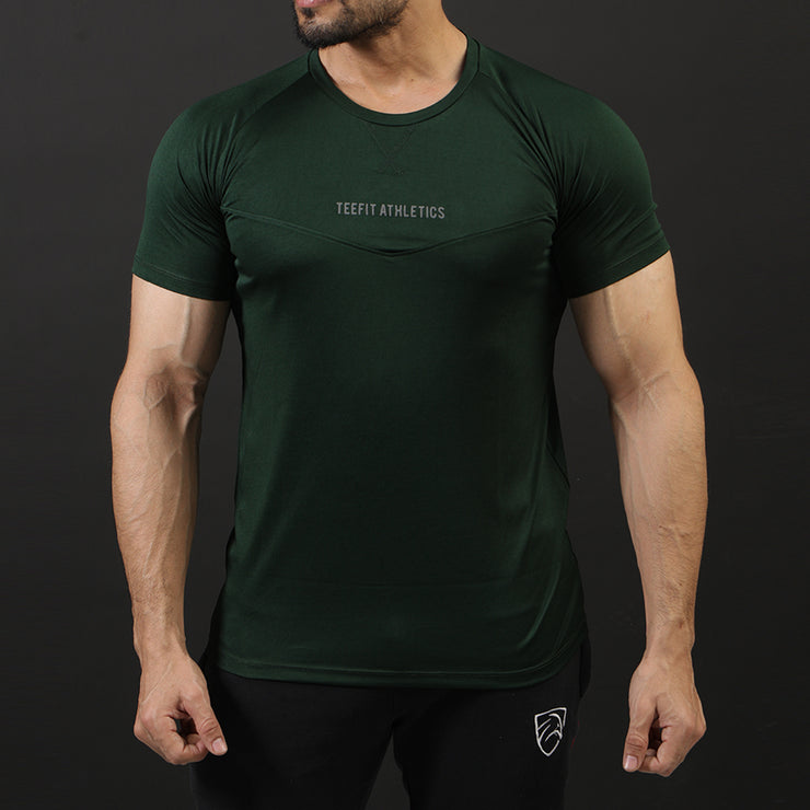 Green Teefit Athletics Performance Tee