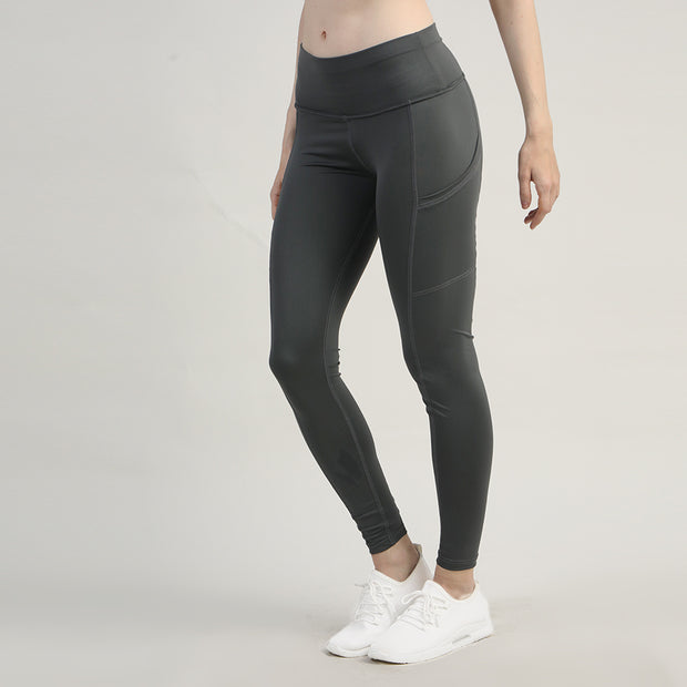 Charcoal High Waisted Premium Pocket Leggings