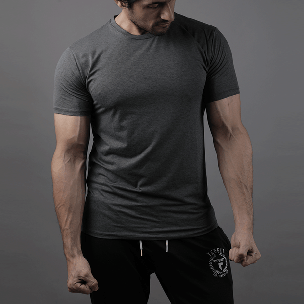 Quick Dry Charcoal Premium Tee - TeeFit Fashion