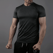Quick Dry Black Textured Tee - TeeFit Fashion