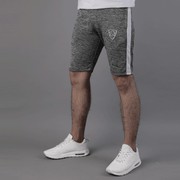 Quick Dry Textured Grey Shorts With White Panel - TeeFit Fashion