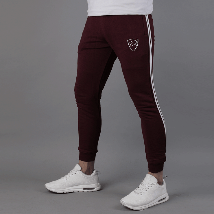 Tapered Maroon With Two Stripes - TeeFit Fashion