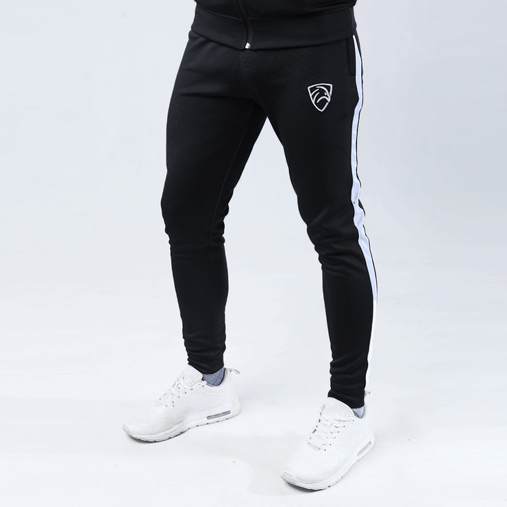 Black Interlock Bottoms With White Stripe - TeeFit Fashion
