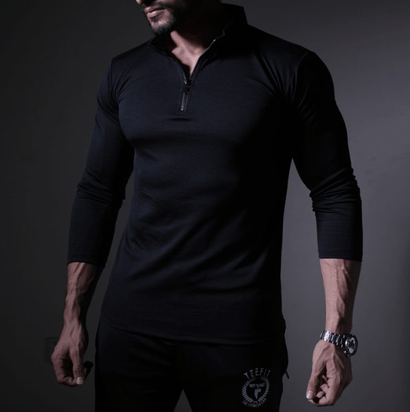Black Dri-Fit Zipper Top