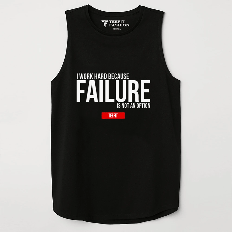Failure Black Sleeveless Top - TeeFit Fashion