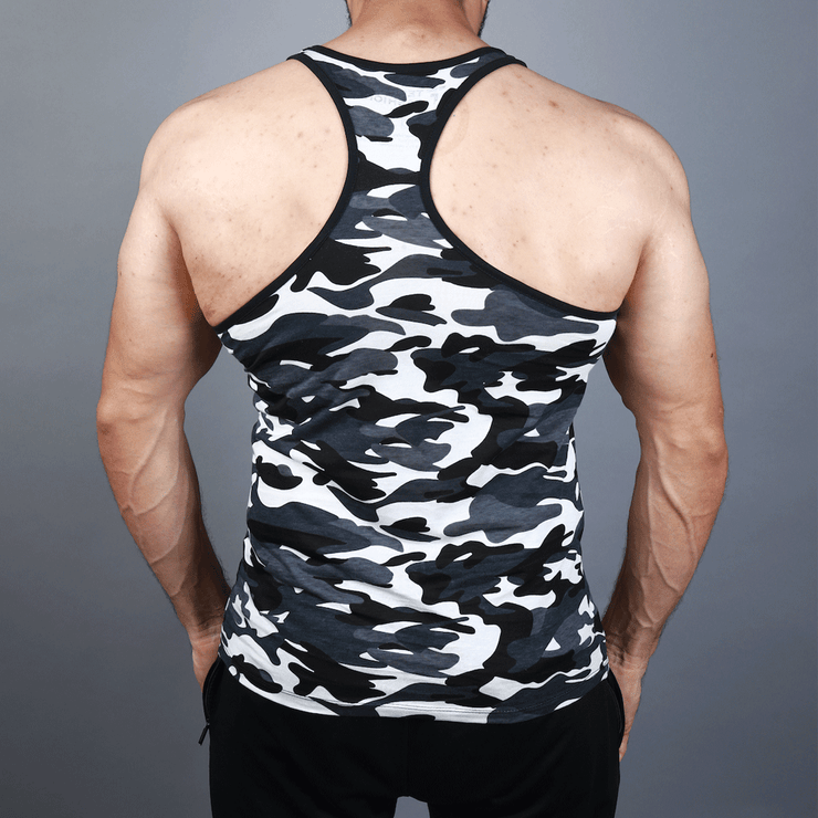 Grey Camouflage Tank Top - TeeFit Fashion