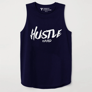Hustle Hard Dark Navy Sleeveless Top - TeeFit Fashion