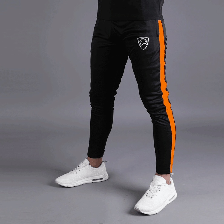 Quick Dry Hawk Series Bottoms With Orange Side Panel - TeeFit Fashion