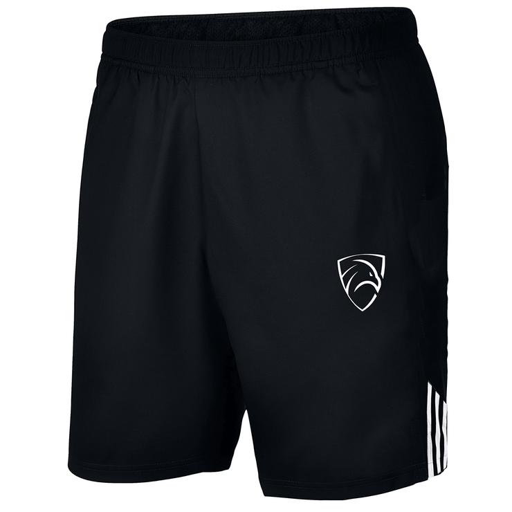 Black Micro Running Shorts With Three Stripes - TeeFit Fashion