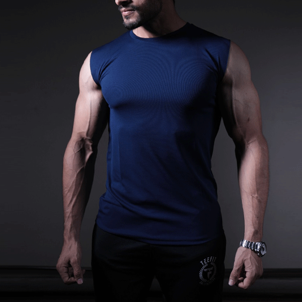 Navy Quick DrySleeveless Sando