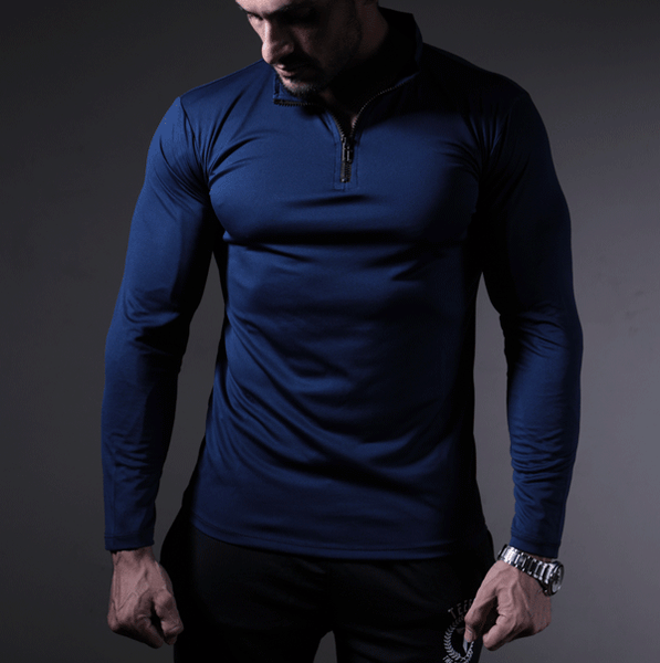 Dri-Fit Navy Zipper Top